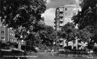 Plaskdamm i Danviksparken och konditori på Hästholmsvägen, Danviksklippan