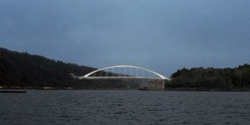 Kvarnholmsbron sedd från Stockholms inlopp