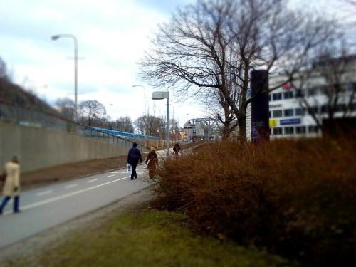 Danvikstull med Saltsjöbanan, Värmdövägen, Danviksbron och Det Vita Huset