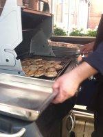 Lunchgrillning på Milou Catering i Gäddviken, Nacka