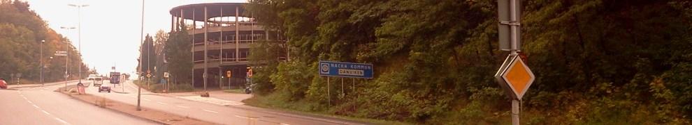 Trist infart på Kvarnholmsvägen