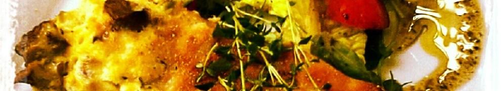 Kantarellpaj med sallad på Little Fred i Finnboda