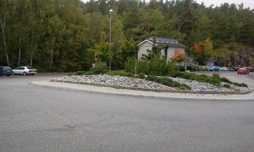 Rondell på Kvarnholmsvägen