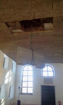 Temporär konsthall i Danvikens Hospital - svävande betong