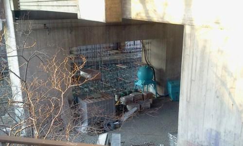 Renoverings pågår under Danviksbron