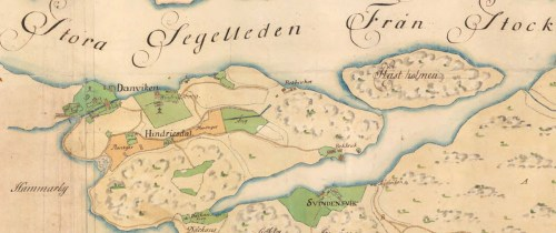 karta över västra sicklaön från 1774