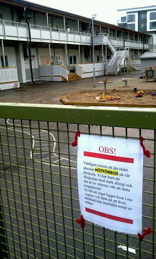 Henriksdalshamnen, Stockholm: Förbud mot nötter på förskolan Storseglet