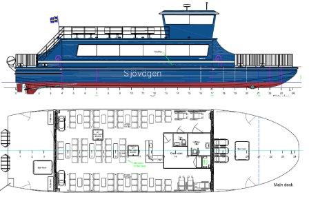 Eldriven båt för Sjövägen, byggd av Faaborg Værft