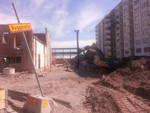 Finnboda i Nacka - Finnboda varvs spantverkstad har rivits