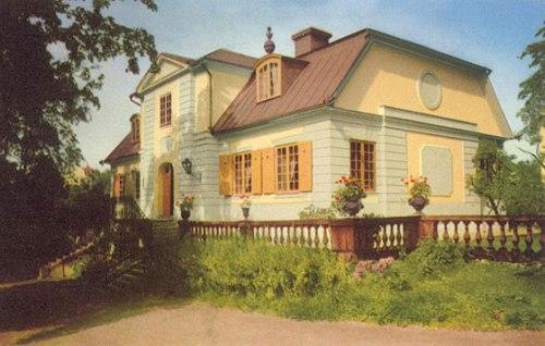 Vykort visar Svindersvik gård i Nacka