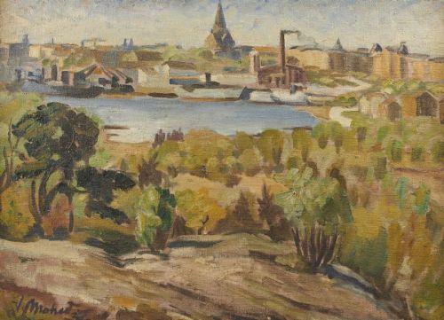 Utsikten från Danviksklippan av Valdemar Mohed