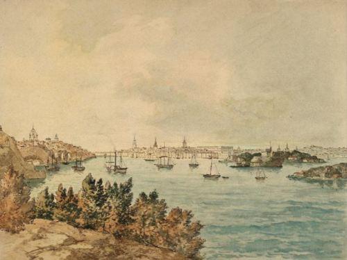 Carl Abraham Rothstén: Vy över Stockholm från Danviksklippan