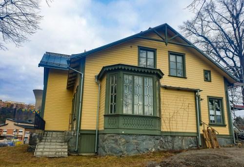 Ingången till sekelskiftsvillan Fanny Udde