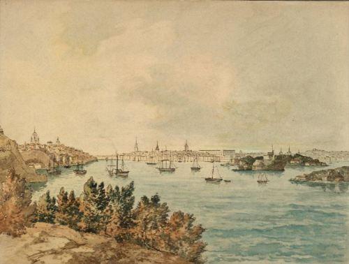 Carl Abraham Rothstén - Vy över Stockholm, sett från Danviksklippan