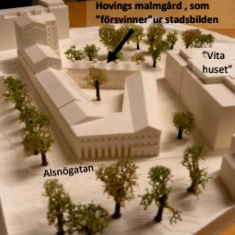 Hovings malmgård kläs enligt Einar Mattssons planer in i ett u-formad vårdboende