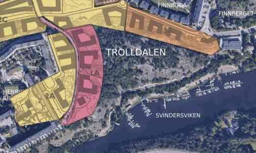 Så vill Nacka kommun exploatera Trolldalen i tre olika etapper