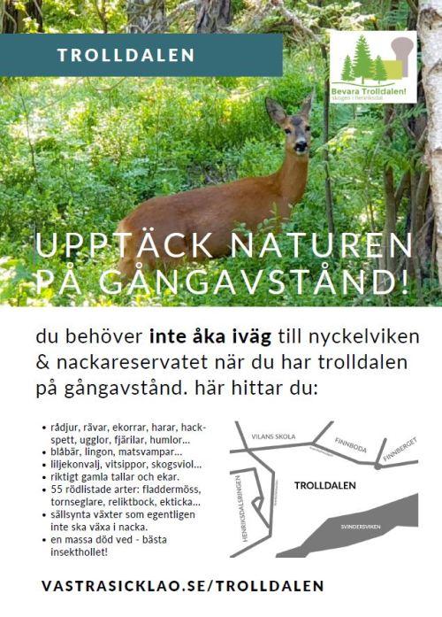Affisch för naturen i Trolldalen