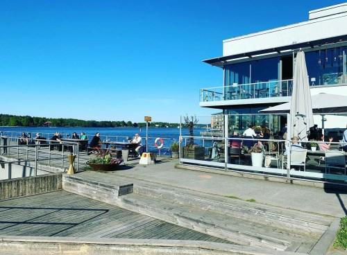 Docklands restaurang i Finnboda, Nacka - lunch, middag och grillbuffé
