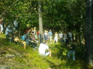 Natur- och kulturvandring från Henriksdalsberget till Kvarnholmen 2010