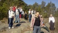 Naturvandring 2012 i skogen Trolldalen, Nacka