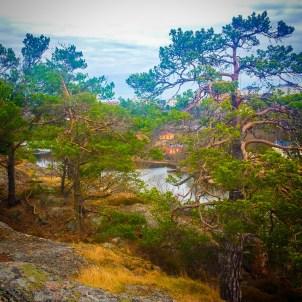 Utsikt från Trålldalen mot Svindersviks gård (vår)