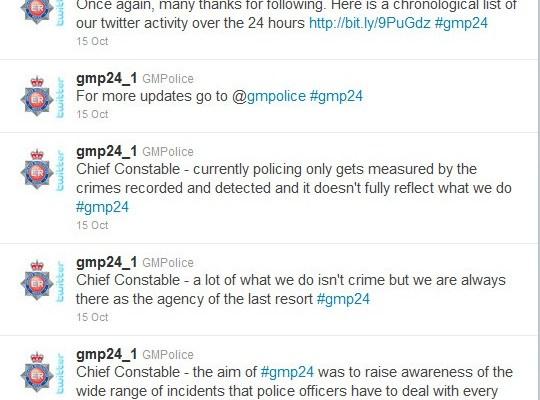 Полицията в Twitter