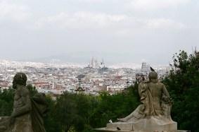 Vista de Barcelona. Al fondo la Sagrada Familia
