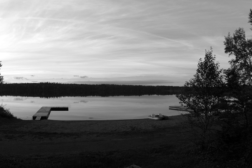 El lago en silencio