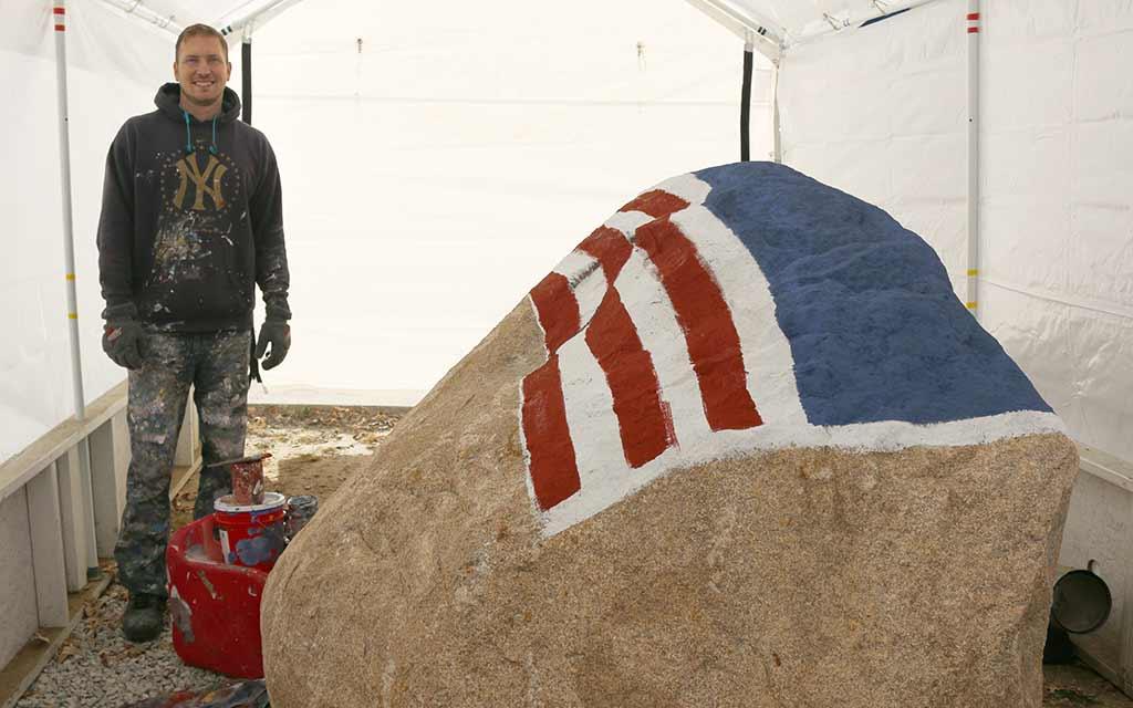 Beginning of the flag