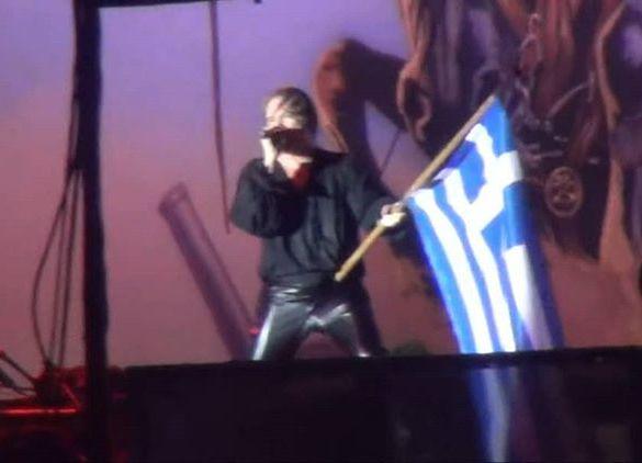 Iron Maiden Alexander The Greatελληνική σημαία