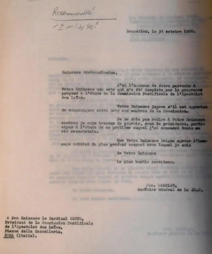Cardijn to Cento 31 10 1960