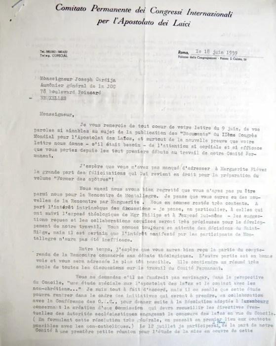 Rosemary Goldie - Cardijn 18 06 1959