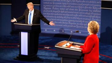 """""""She kept interrupting me, I couldn't get my message across to the American people. I will only attend the next debates if Hillary is not there,"""" said Trump."""