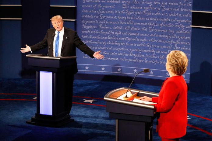 """She kept interrupting me, I couldn't get my message across to the American people. I will only attend the next debates if Hillary is not there,"" said Trump."