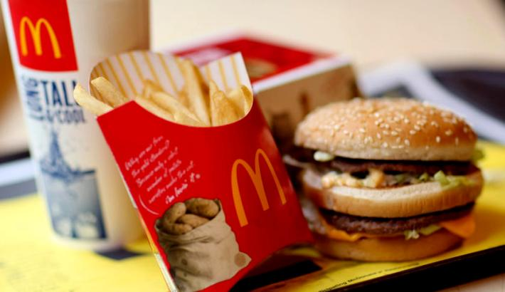A McDonald's Big Mac value meal