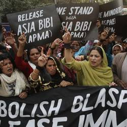 A demonstration in support of Asia Bibi