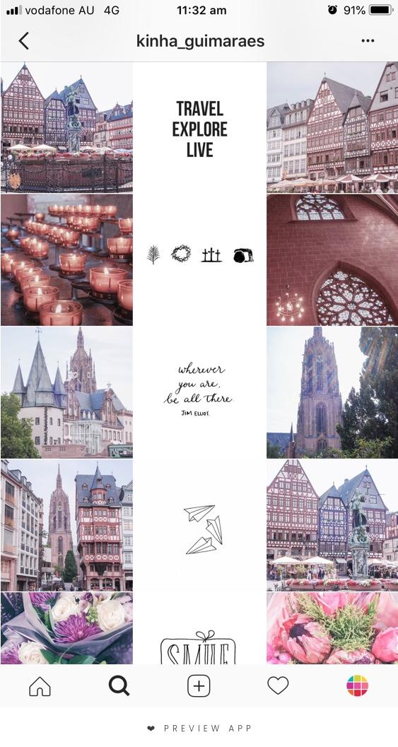 instagram feed putih tengah