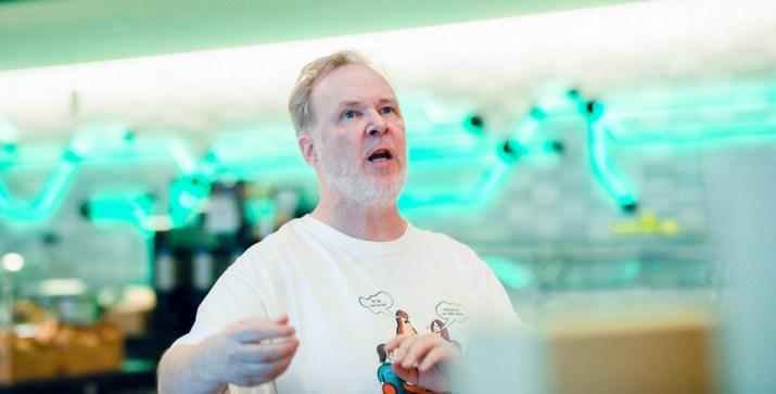 """Foto Michael_""""Monty""""_Widenius sang pendiri MySQL."""