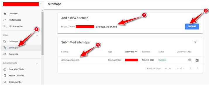Cara submit XML sitemap ke Google Search Console 08