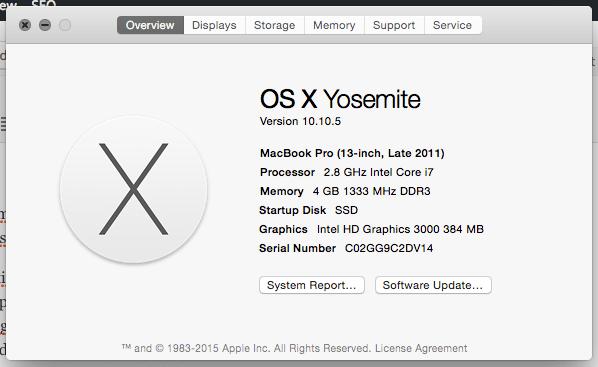 Spesifikasi Mac