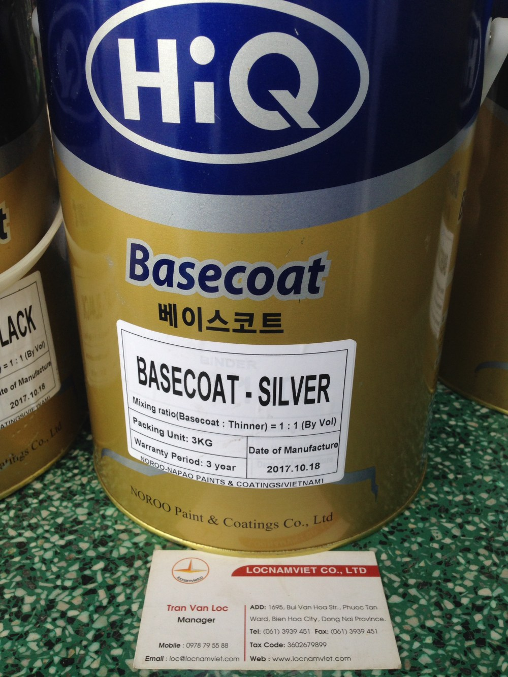 Sơn Hiq basecoat black & silver 3kg