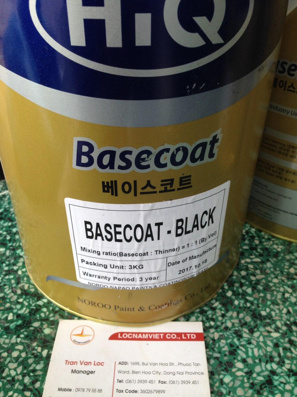 Sơn Hiq basecoat black