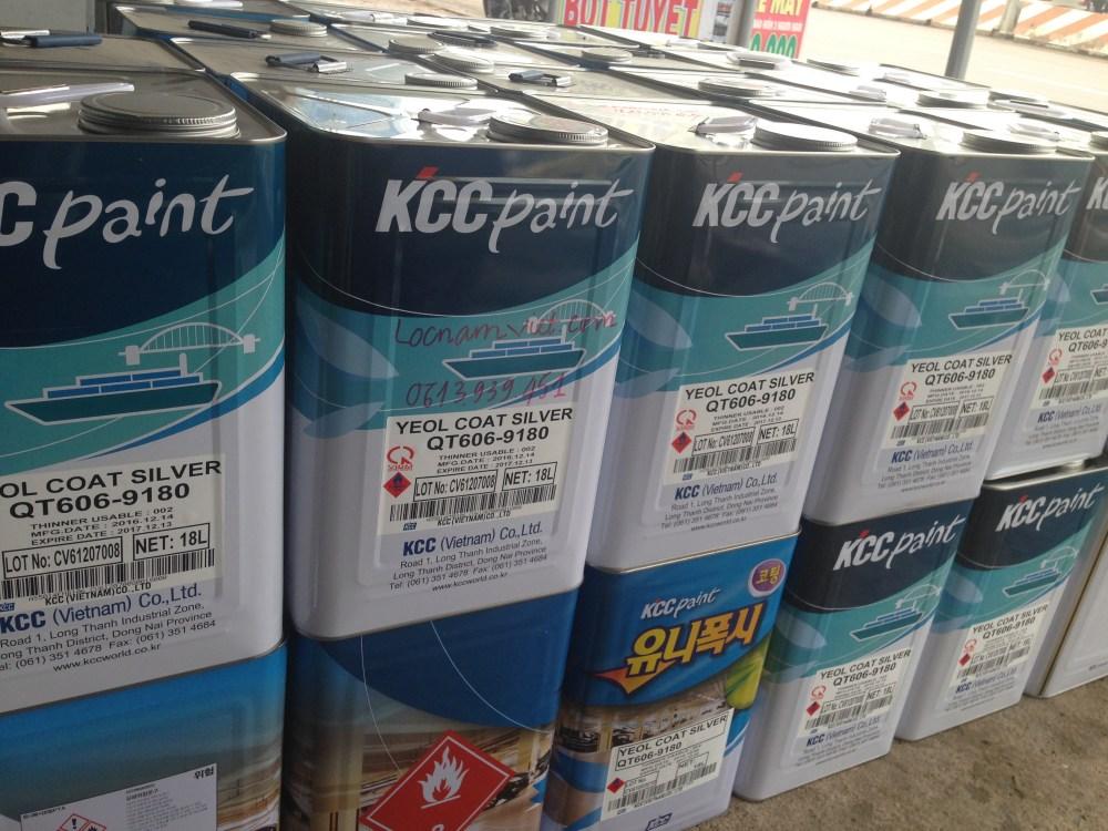 Sơn chịu nhiệt KCCQT606-9180 Silver 600ºC-Bạc (2)
