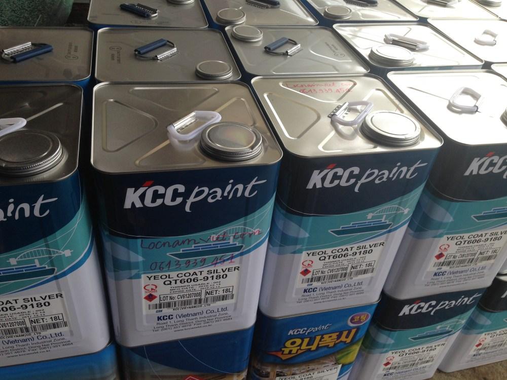 Sơn chịu nhiệt KCCQT606-9180 Silver 600ºC-Bạc (3)