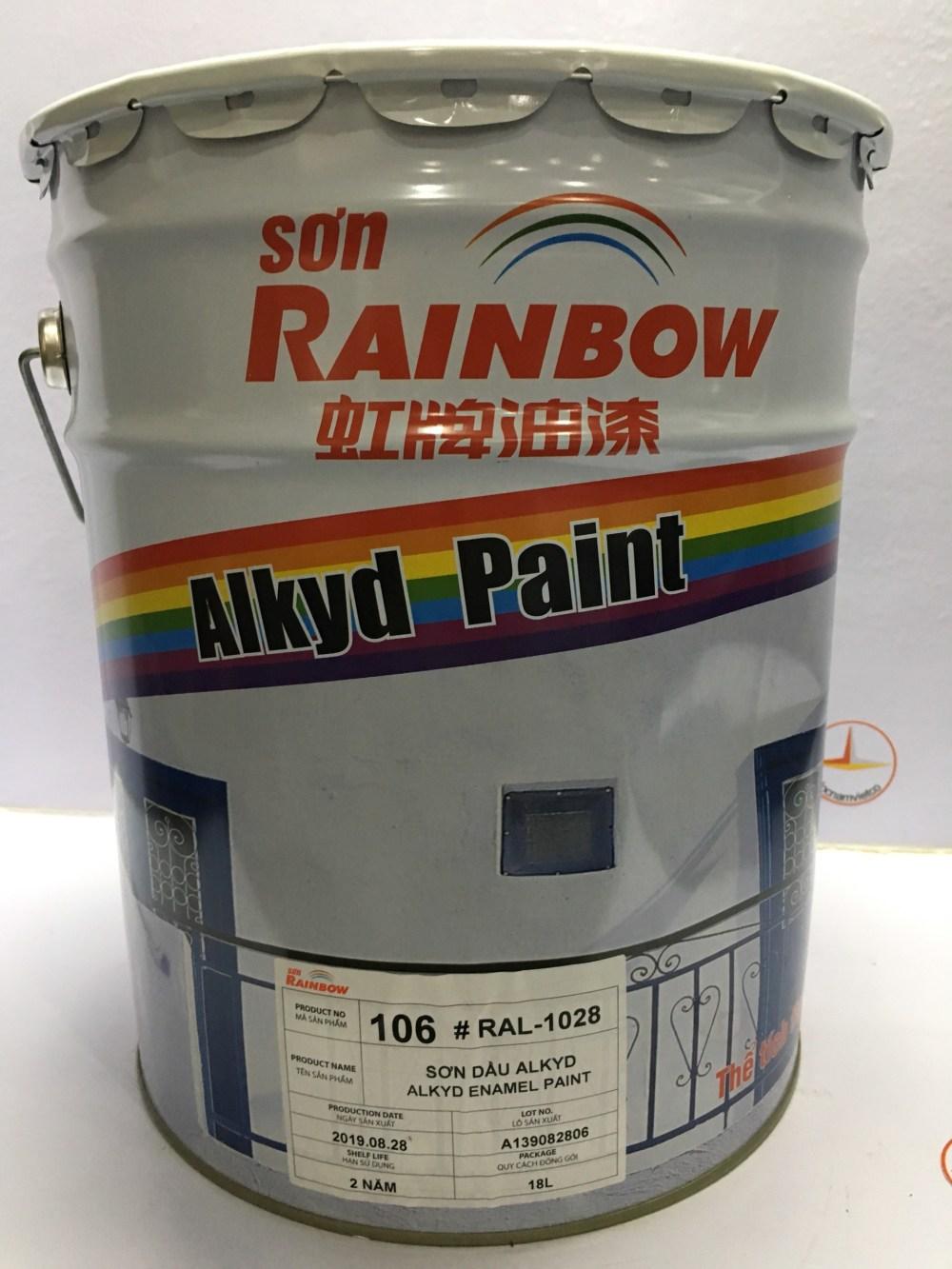SON ALKYD RAINBOW MAU VANG RAL 1028 -18L (2)