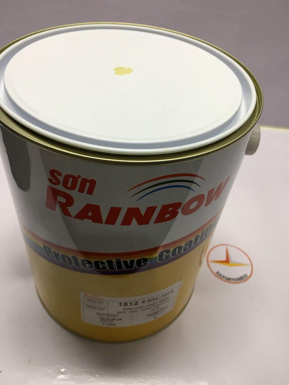 SON CHIU NHIET 200 DO C MAU VANG KEM RAINBOW 1512 RAL 1014 (3)
