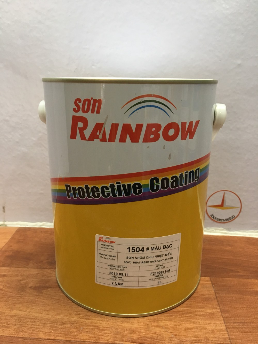 SON NHOM CHIU NHIET 300 DO C RAINBOW 1504 BAC -4L (1)