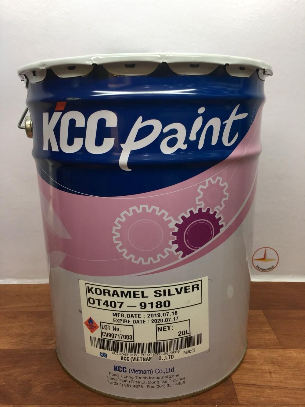 SON CHIU NHIET KCC KORAMEL SILVER OT407-9180 200 Do C-20L (1)