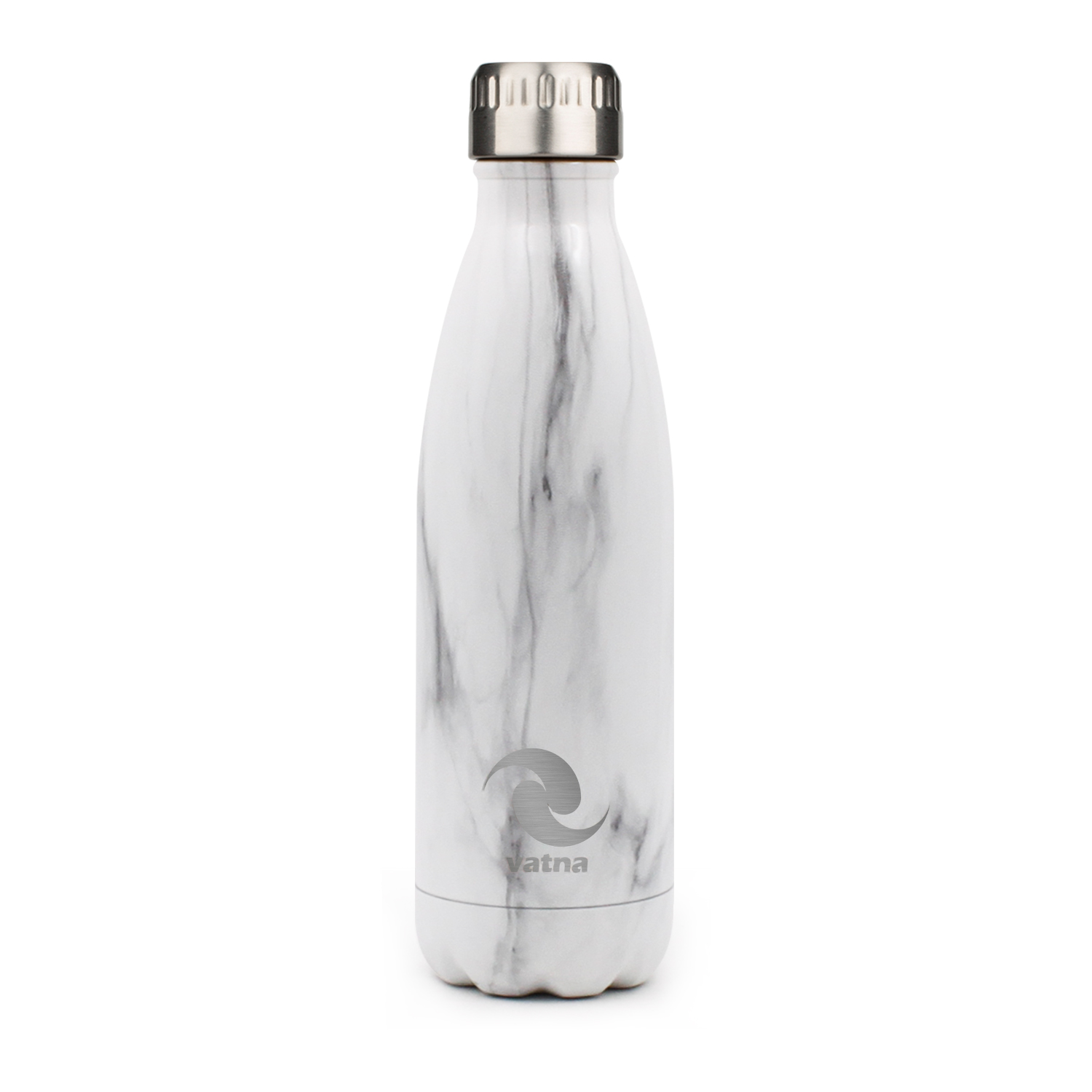 Vatna Insulated White Marble Water Bottles 17oz Vatna Bottle
