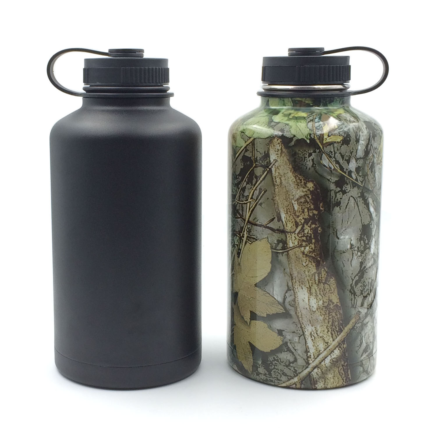 Vatna Insulated Beer Growler Black Camouflage 64oz Vatna Bottle